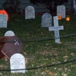 The graveyard at night