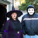 Me in my witch costume and dad as a zombie