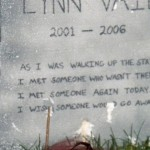 Sabrina's personal tombstone in my cemetary