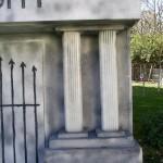 Closeup of the columns