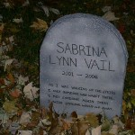 Sabrina got her own tombstone this year