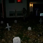 The graveyard, by night