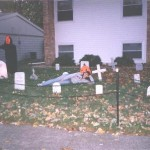 My sister Kerri in the Graveyard